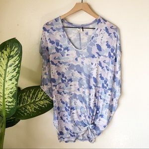 Anthropologie   Knotted & Dyed Motif Top